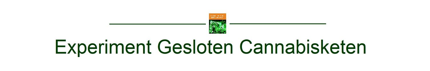 Experiment Gesloten Cannabisketen